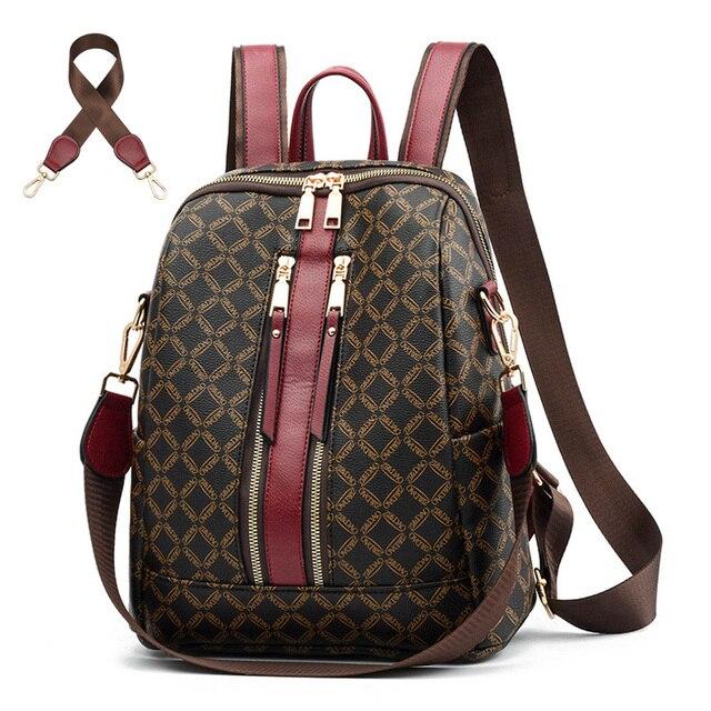 Sac à dos en cuir pour femmes, sacoche de styliste à épaule de marque, sacoche de voyage de luxe pour filles, 2020