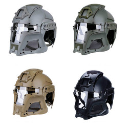 Tactical Army Combat Helmet Airsoft Paintball Full-covered Medieval Iron Warrior Helmet Men Shooting Hunting Military Helmets