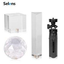 Selens fotografia prisma com 1/4 vvvlogger fotografia bola de cristal vidro óptico mágica foto bola estúdio de fotografia accessori