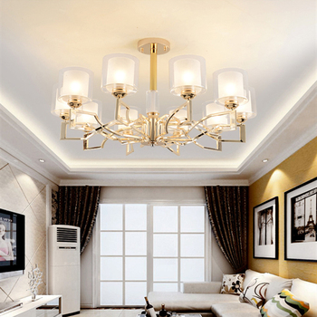 Luxury Led Ceiling Lights Gold Ceiling lamp For Living Room Bedroom Modern Loft Light Glass Indoor Lighting Lustre plafonniers white glass ceiling lamp modern design frosted glass shade light home collection lighting bedroom foyer doorway cloud lights