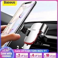 Baseus רכב מחזיק טלפון 360 תואר סיבוב רכב אוויר Vent הר הכבידה אוניברסלי נייד טלפון מחזיק עבור iPhone רכב מחזיק