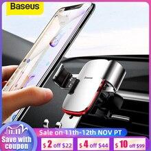 Soporte de teléfono para coche Baseus, soporte de 360 grados de rotación para la rejilla de ventilación del coche, soporte de teléfono móvil de gravedad Universal para iPhone, soporte de coche