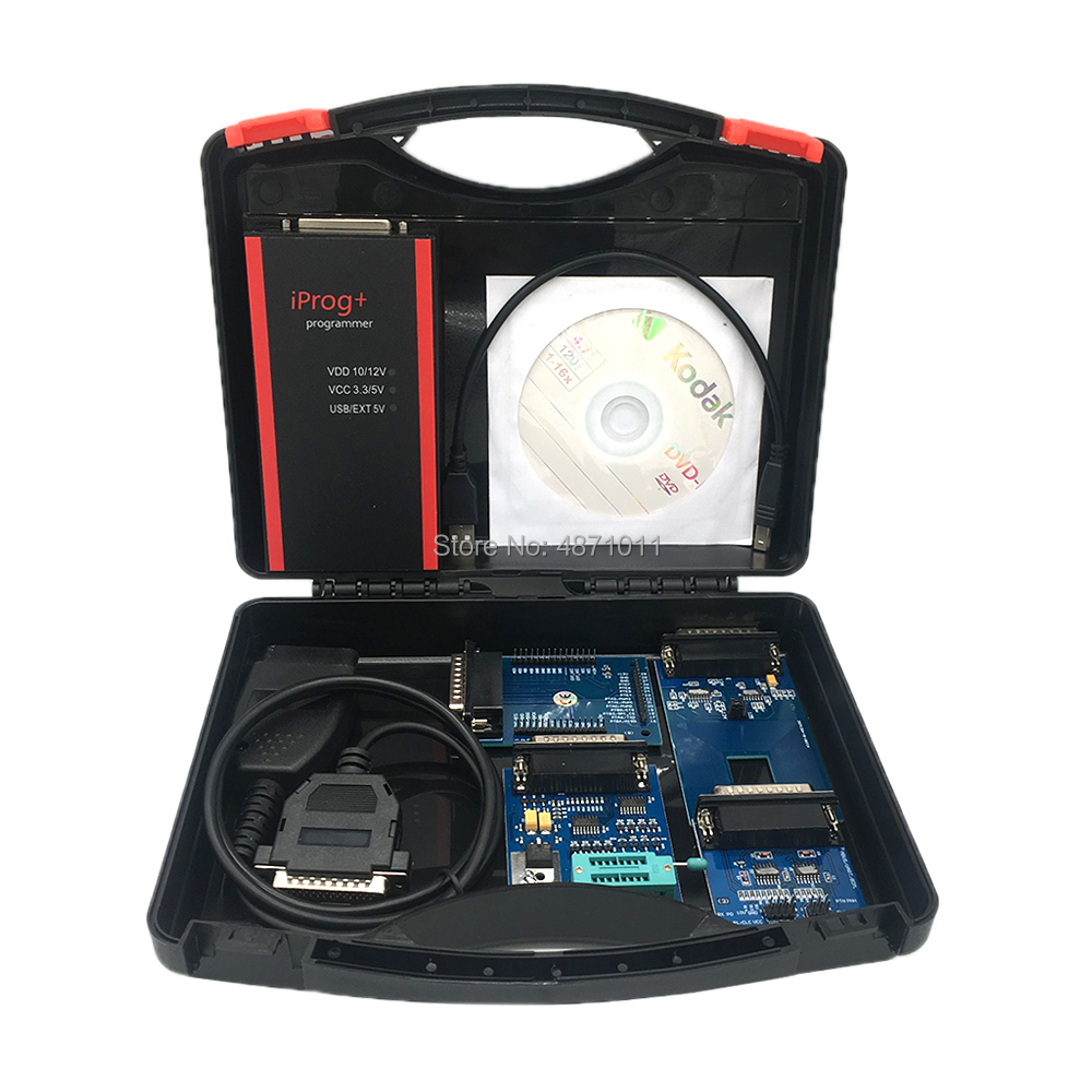 2019 V77 Iprog+ Programmer Multi-function Diagnostic & Programming Tool Mileage Correction + Airbag Reset +IMMO+EEPROM