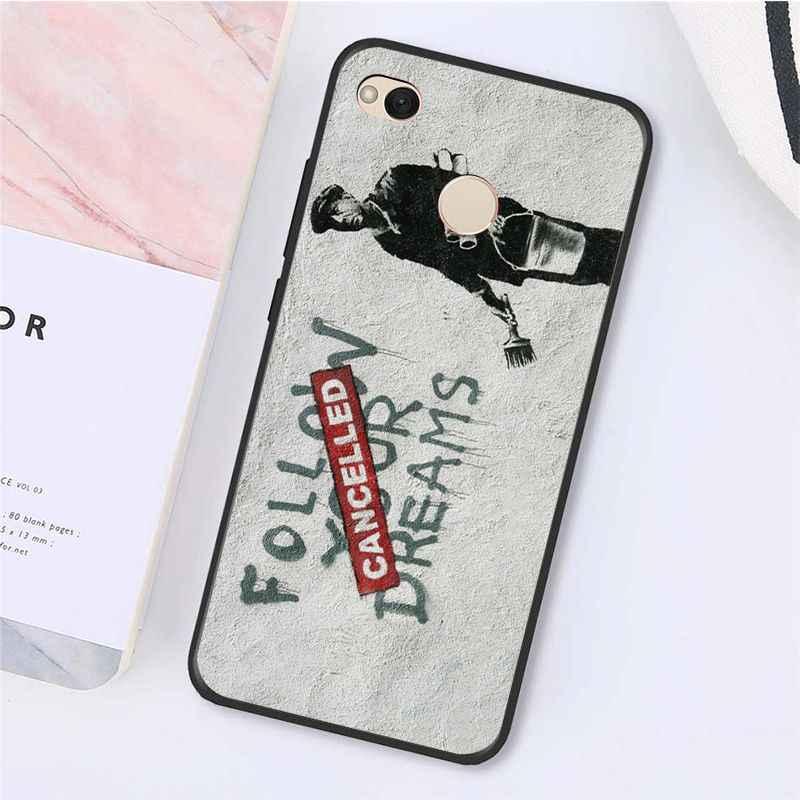 Yinuoda Street Art Banksy Graffiti Telefon Fall für Xiaomi mi5 6 A1 A2 Lite Mi9 9SE mi8lite F1 Mix2 2S Max2 3