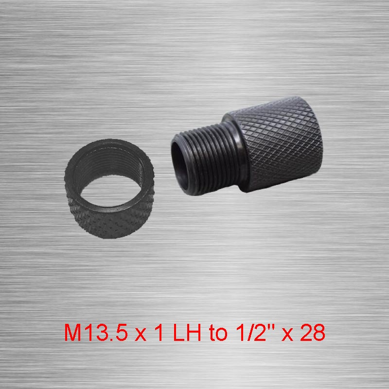 Durable Black Oxide Steel 9mm M13.5 x 1 Left Hand Barrel Thread Protector