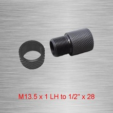 Barrel End Threaded Adapter Metric Thread Adapter M13.5 x 1 LH to 1/2