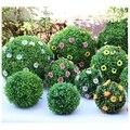 Искусственный пластиковый зеленый шар, искусственное растение, зеленая трава, шар, украшение для дома, сада, свадьбы, вечеринки