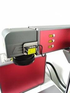 Image 3 - 送料無料オートフォーカス 30 ワットスプリットファイバーレーザーマーキングマシンレーザー彫刻機械銘板レーザーマーキングステンレス鋼