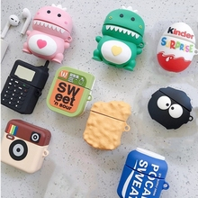 Silicone-Case Soft-Cover-Box Apple Airpods Charging Dragon Cartoon Cute Wireless