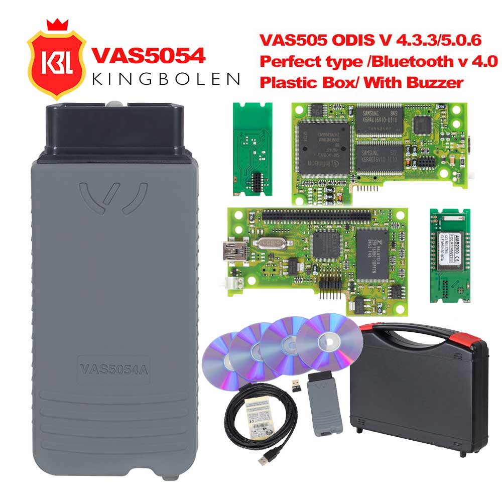 VAS5054A ODIS V4.3.3 Keygen Full Original OKI Chip V5.0.6 Auto OBD2 Diagnostic Tool VAS5054 Bluetooth V4.0 OBD2 Code Scanner