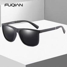 Мужские солнцезащитные очки в стиле ретро fuqian квадратные