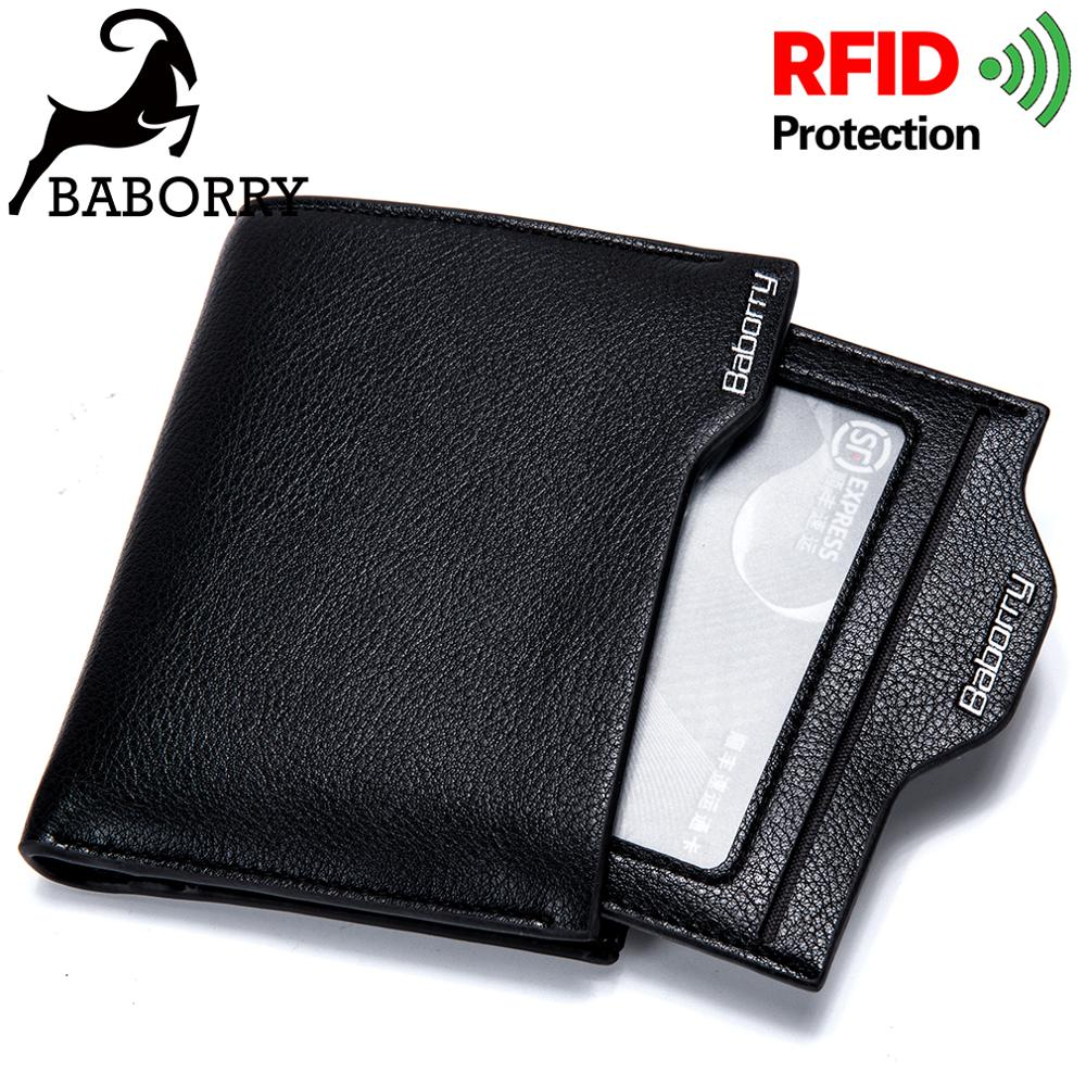 Rfid Mens Wallet Men Wallets Purse Men Walet Men Purse Man Thin Boys Short Small Slim Money Bag For Men Brand Men's Vallet
