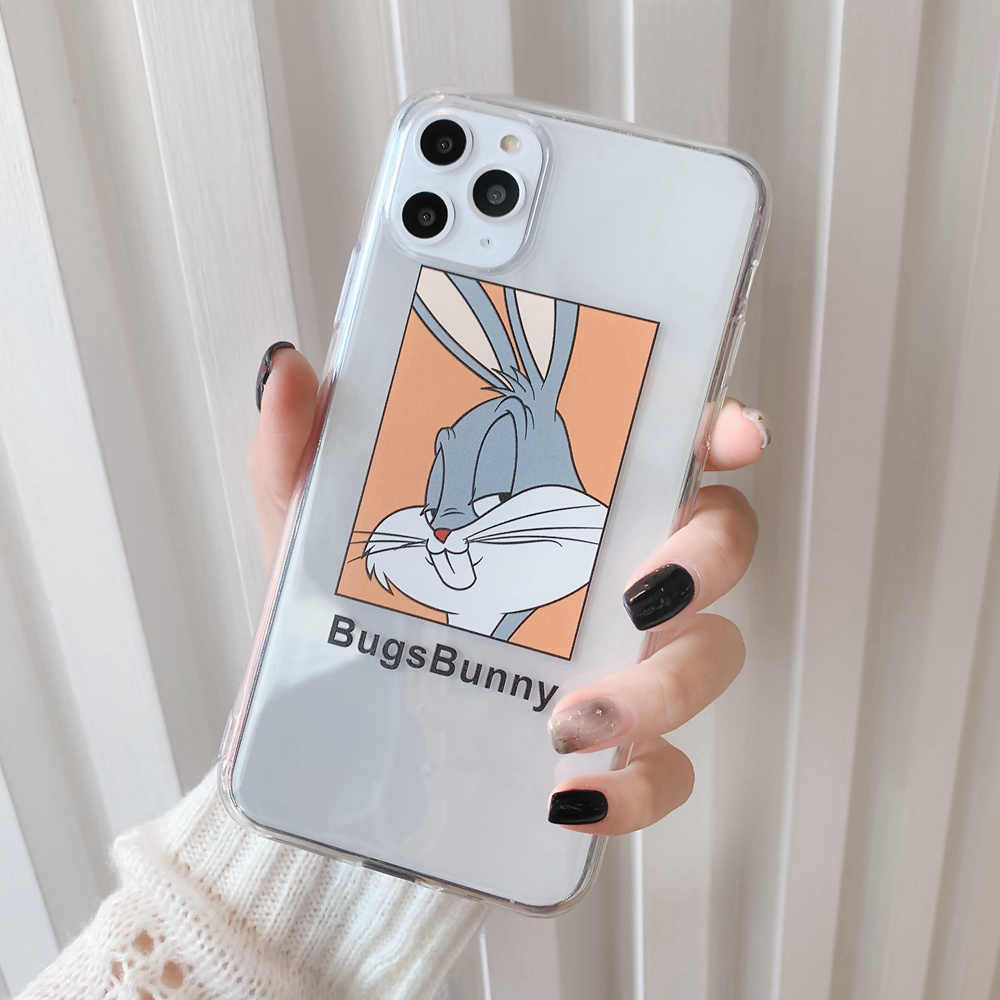 Trasparente Custodia morbida Per il iPhone X Xs Max XR StellaLou Bugs Bunny Cassa Del Coniglio Del Fumetto per il iPhone 11 Pro 7 8 più SE 2020 SE2