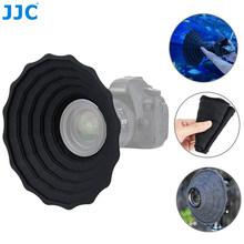 Jjc câmera capa de lente de silicone dobrável máscara de lente reversível para canon nikon sony fuji dslr slr anti-reflexivo protetor de lente