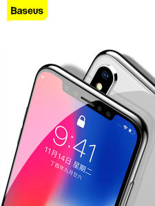 Baseus Screen-Protector Protective-Glass Full-Cover iPhone 11 for Xs Max-X-Xr