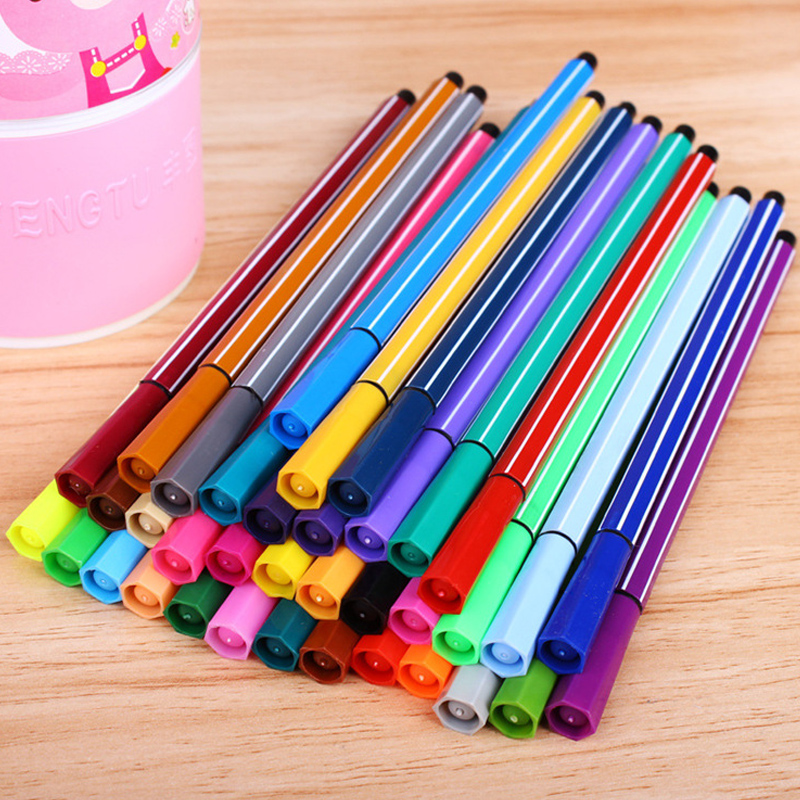 12/18/24/36 Washable Watercolor Pencils Safe Non-toxic Professional Water Color Pen Art Marker Drawing Colored For Kids Student