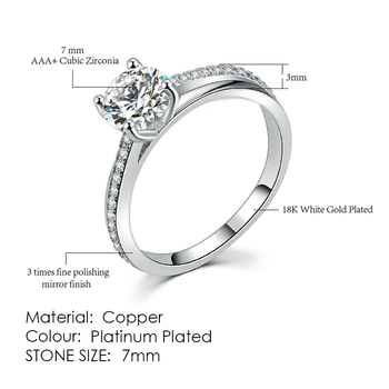 ZHOUYANG Ring For Women Simple Style Cubic Zirconia Wedding Ring Light Gold Color Fashion Jewelry KBR103 20