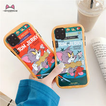 Luxe Cartoon Tom Kat Jerrt Muis Telefoon Case Voor Iphone 11 Pro Max Xr X Xs Max 7 8 Plus Shockproof beschermende Back Cover Cases(China)