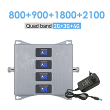 Cellular Repeater Qaud-Band 2100-Mhz Amplifier Mobile-Signal DCS 1800 WCDMA 3g 4g 4G LTE