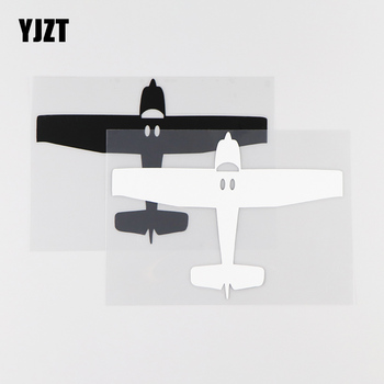 YJZT 15.3X11CM Free Flying Aircraft Vinyl Car Sticker Decal Art Mural Decor Black / Silver 10A-0003 image