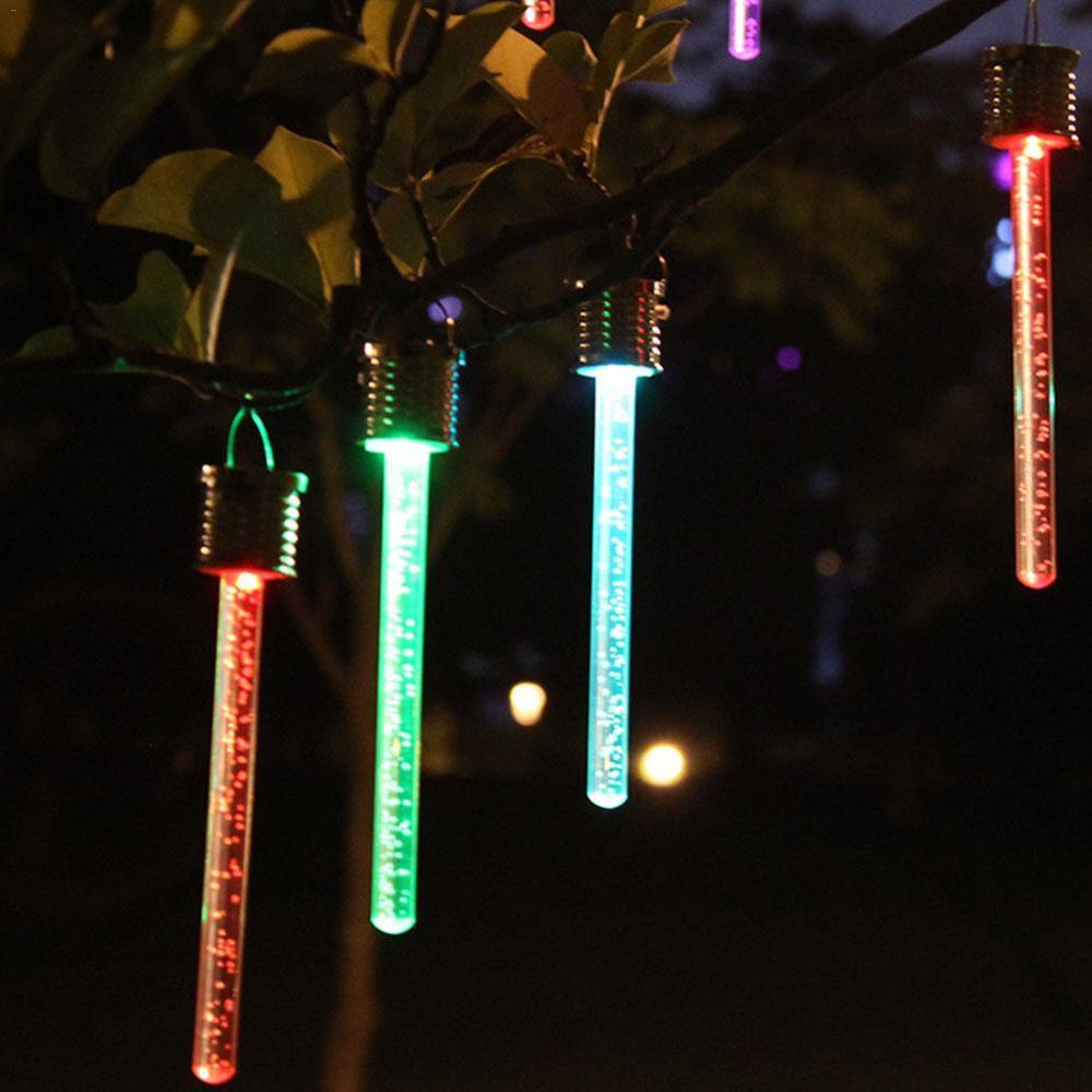 Acrylic Solar Color Light Color Changing Light Bar Outdoor Garden Corridor Flower Garden Decoration Bubble Stick Solar Lantern