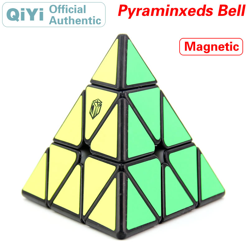 QiYi Magnetic 3x3x3 Pyramid Bell Magic Cube MoFangGe Magnet 3x3 Pyramid Speed Twisty Puzzle Educational Toys For Children