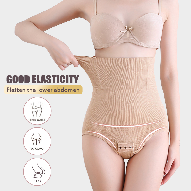 FINETOO Sexy Body Shaper Tummy Control High Waist Trainer Women Shapewear Abdomen Pants Hip Body Shaping Breathable Slimming New