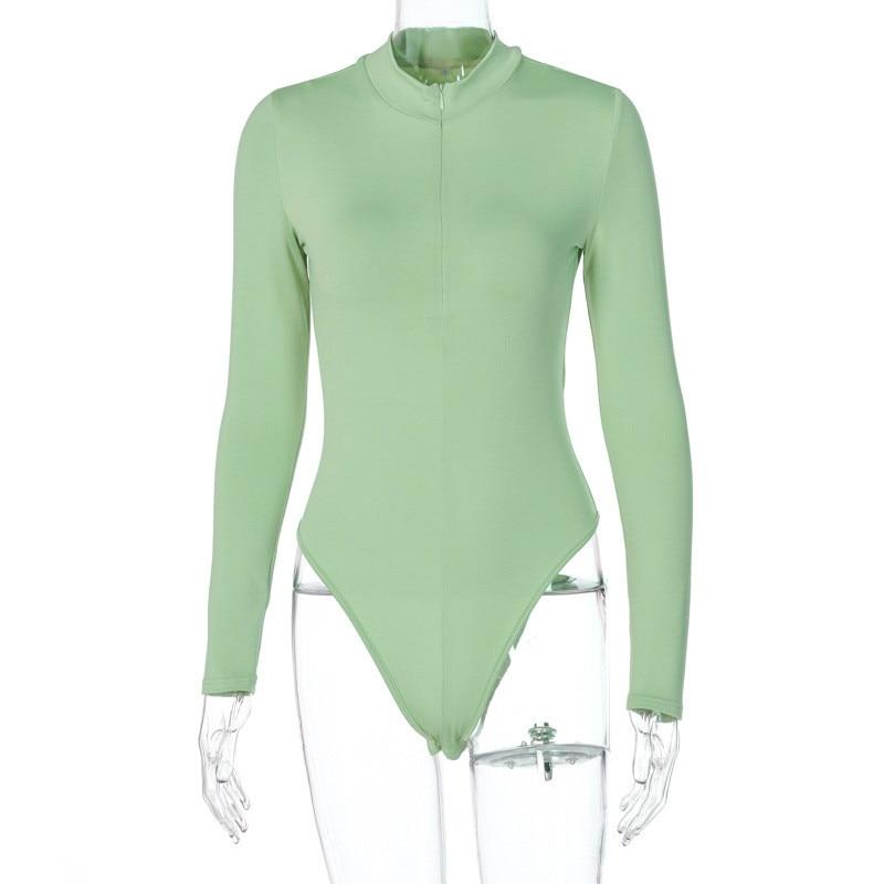 zipper bodycon bodysuit women36