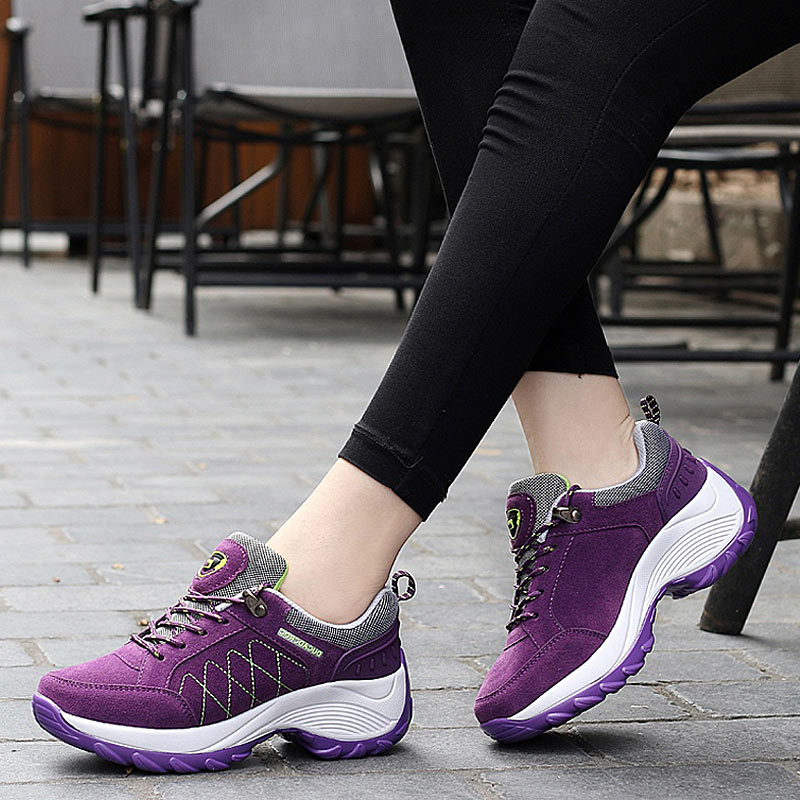 Sneakers For Women Autumn Winter Casual Shoes Lace-up Shock-absorbing Non-slip Lady Sport Shoes Woman Walking Running Trainers