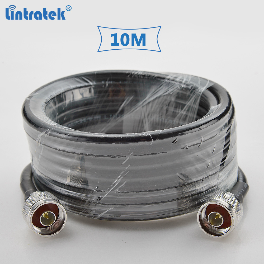 Lintratek 10 Meters 5D Coaxial Cable High Quality With N-male Connectors For Cellphone Signal Repeater And Antenna #7.4