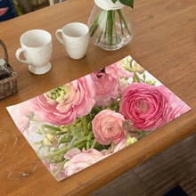 Coffee Tea Place Mat Linen Ramadan Dining Table Placemat Tableware Fiber Pad Coaster Happy Eid Party Supplies Table Placemats flower pattern dining table placemat pastoral style tableware pad coaster coffee tea place mat kitchen decoration accessories