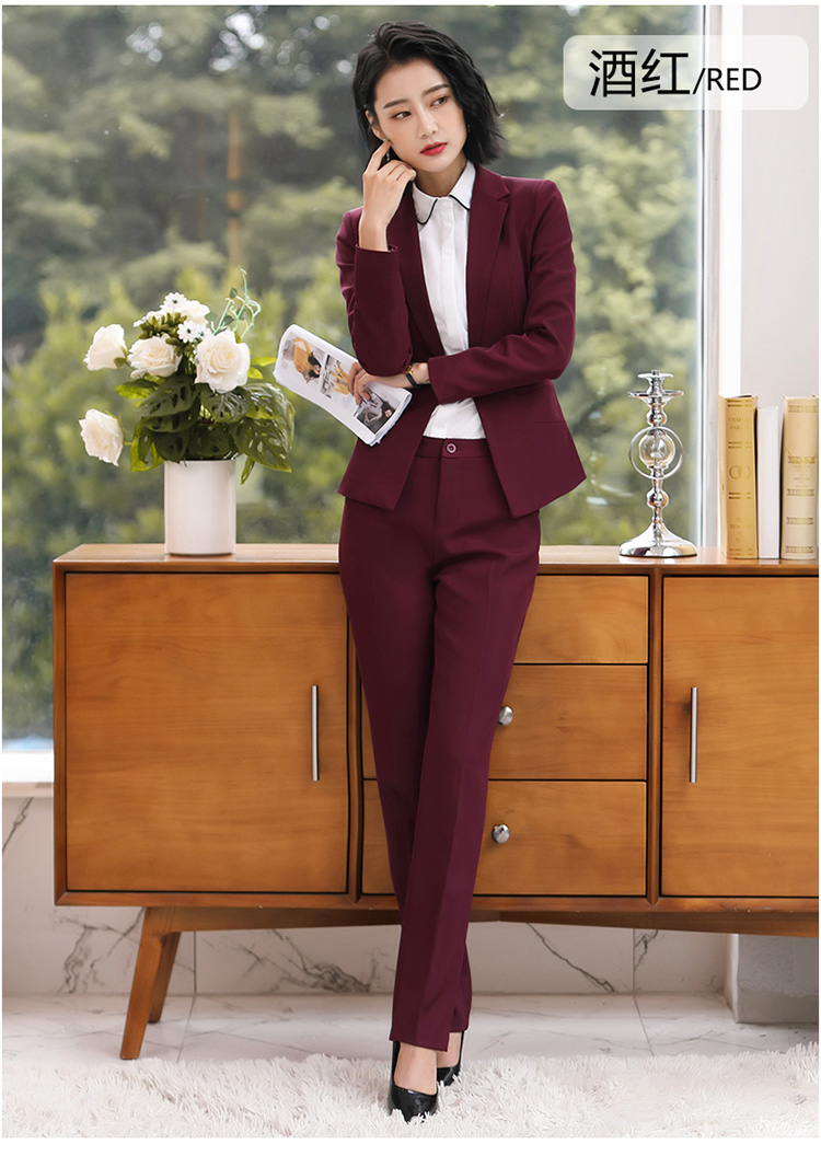 Hb0ecefa58191451383f7cba0ca2835c2K - Autumn Business Casual Long Trousers Women Solid Black Blue Red Formal Pants Office Ladies Work Wear Straight Suit Pant 4XL
