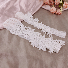 TRiXY TH0708 Wedding Garters White Lace Embroidery Floral Sexy Garters 2pcs set for Women/Bride Thigh Ring Bridal Leg Garter high quality openwork lace black spandex corsets garters for women