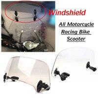 Universal Motorrad Roller Einstellbare Clip Auf Windschutz Windschutz Verlängerung Spoiler Wind Deflektor Einstellbar Abschließbar