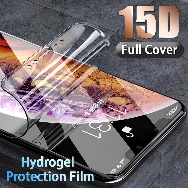 Hydrogel Soft Screen Protector For IPhone Xr X Xs Max Full Cover Protection For IPhone 7 8 6 6s Plus Protective Film Not Glass