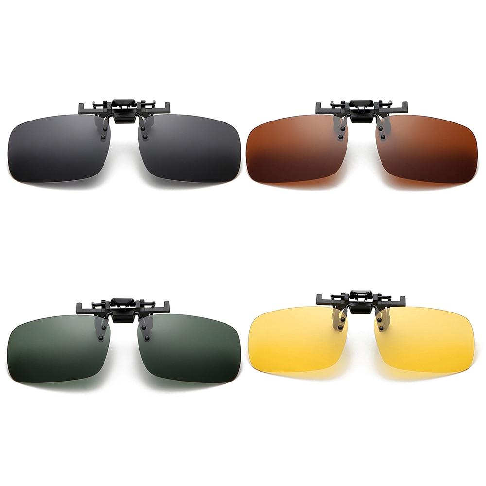 Men Car Driver Goggles Anti-UVA Polarized Sun Glasses Driving Night Vision Lens Clip On Sunglasses Interior Accessories