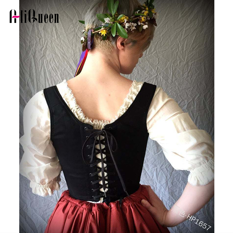 Pirate Womens Adult White Gypsy Bar Wench Costume Crop Top