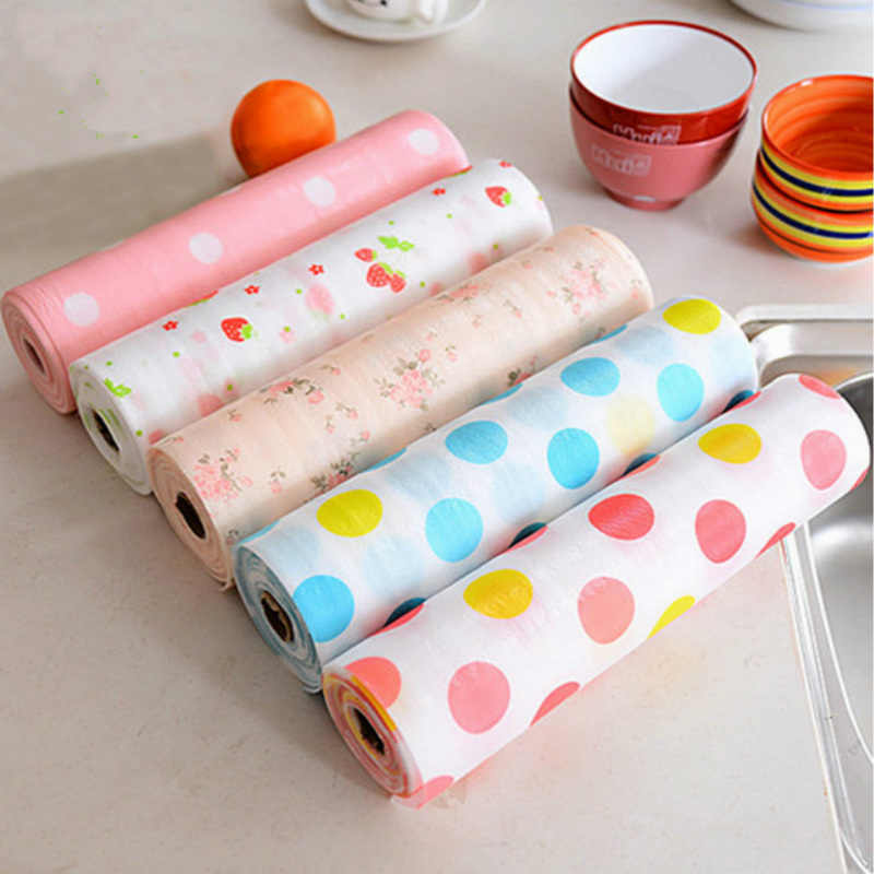 3m*30cm Cute Print Waterproof Non-Slip Heat-insulated Antiskid Cup Table Mat Kitchen Drawer Dinning Bowl Pad Mat