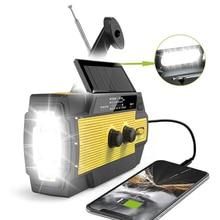 3-in-1 Solar Hand Crank Radio Portable AM/FM/NOAA Weather Radio w/Flashlight Reading Lamp 4000mAh Power Bank For Outdoor Camping