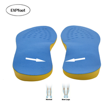 EXPfoot PU Cotton Unisex Knockknees Valgus Varus Corrector Orthotic Insoles Comfortable Breathable Massaging Foot Pads Inserts