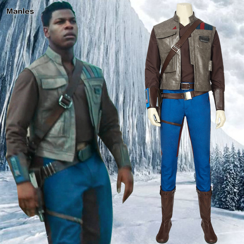 Star Wars 9 Cosplay The Rise Of Skywalker Costume Finn Adult Halloween Boots Belt Holster Shirt Vest Custom Male Suit Movie Movie Tv Costumes Aliexpress
