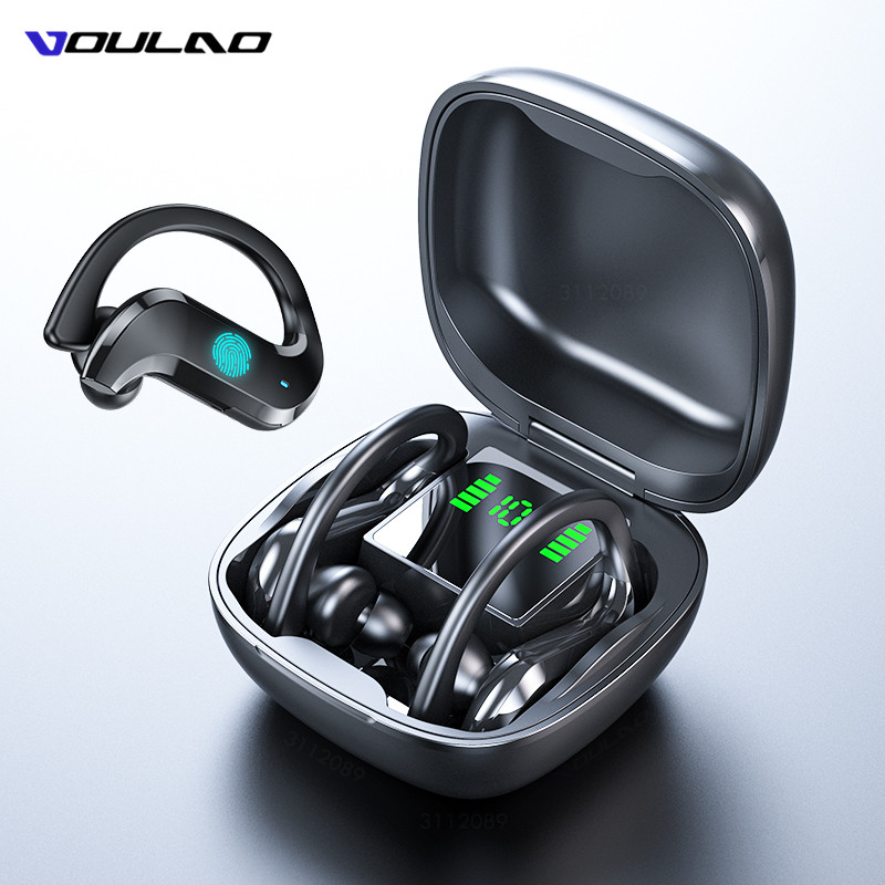 VOULAO Bluetooth Earphone Led Display Wireless Headphone TWS With Microphone Stereo Earbuds Waterproof Noise Cancelling Headsets(China)