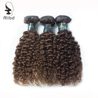 10A Grade Mongolian Kinky Curly Virgin Hair 3Bundles Yellow Human Hair Weaves Double Weft 12 26 inches Alibd Hair