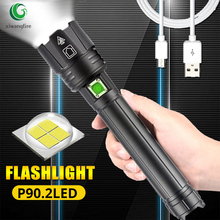 2020 NEW Gift XHP90.2 Ultra Powerful 18650 LED Flashlight Lamp USB Rechargeable XHP70 Tactical Light 26650 Zoom Camp Torch