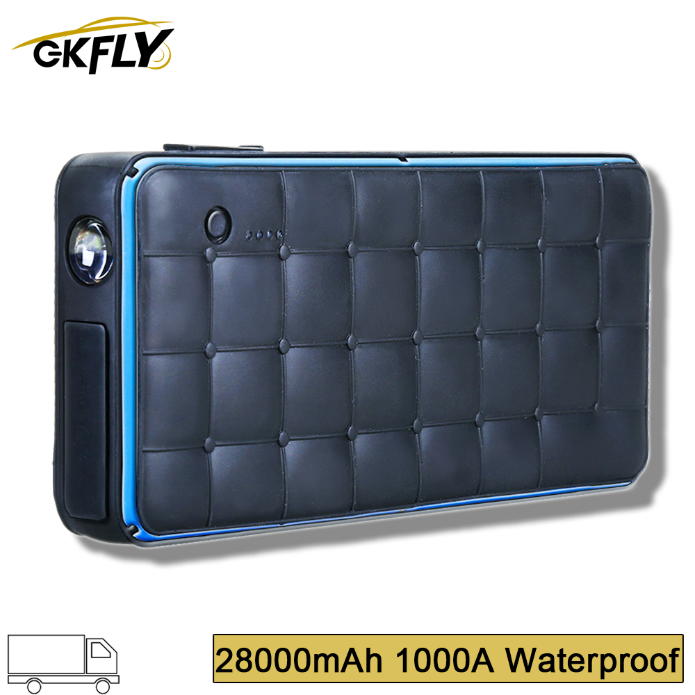 GKFLY 28000mAh Super Waterproof <font><b>1000A</b></font> <font><b>Jump</b></font> <font><b>Starter</b></font> 12V Starting Device Power Bank Charger Battery Booster <font><b>Car</b></font> Battery Charger image