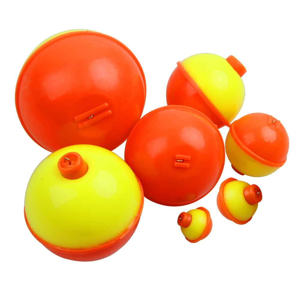 Shaddock 20Pcs Snap On Float Bobbers Fishing Bobbers Push Button Round Fishing Float Buoy Set Fishing Tackle Accessories