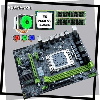 Комплект недорогой материнской платы huanzhi X79, материнская плата с Intel Xeon E5 2660 V2 с 6 тепловыми трубами, кулер RAM 16G DDR3 1600 REG ECC