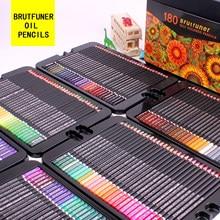 Brutfuner 48/72/120/160/180 cor profissional lápis de cor a óleo madeira esboçando colorido lápis escola arte suprimentos