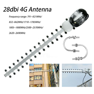 4G 25dBi SMA Male WIFI Signal Booster Wireless Directional Computer Cable Outdoor Accessories Yagi Antenna Modem RG58 1.5m