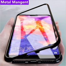 Magnetic Metal Glass Phone Case For Xiaomi Redmi Note 7 Pro Note 8 Pro K20 Pro For Xiaomi Mi 9 T Pro CC9 E F1 A3 Lite Cover(China)